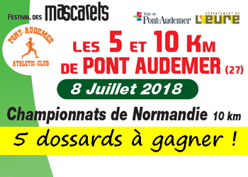 Photo de 5 dossards 5 et 10 km des Mascarets 2018 (Eure)