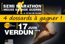 4 dossards Semi-marathon & 10km Meuse Grande Guerre 2018, Verdun