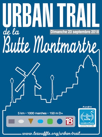 3 dossards Urban Trail de la Butte Montmartre 2018, Paris