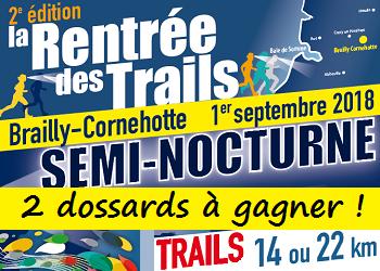 2 dossards Rentrée des Trails 2018 (Somme)