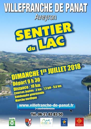 3 dossards 10 km Sentier du Lac 2018 (Aveyron)