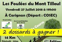 2 dossards Foulées du Mont Tilleul 2018 (Ardennes)
