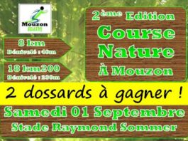 2 dossards Course nature Mouzon Run 2018 (Ardennes)