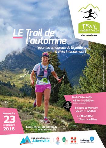 3 dossards Trail d'Albertville 2018 (Savoie)