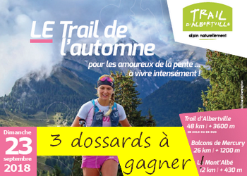 Photo of 3 dossards Trail d'Albertville 2018 (Savoie)