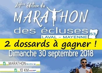 Photo of 2 dossards Marathon des écluses de la Mayenne 2018 (Laval)