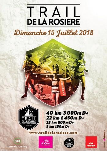 4 dossards Trail de La Rosière 2018 (Savoie)