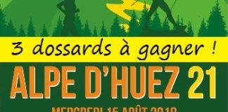 3 dossards Alpe d'Huez 21 - édition 2018 (Isère)