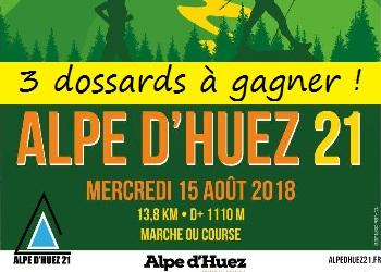 3 dossards Alpe d'Huez 21 – édition 2018 (Isère)