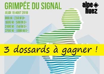 Photo of 3 dossards Grimpée du signal 2018, course verticale, Huez (Isère)