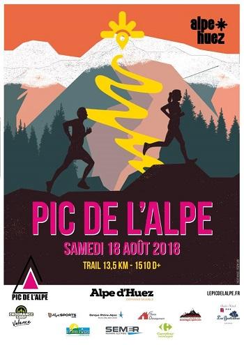 3 dossards Pic de l'Alpe d'Huez 2018 (Isère)