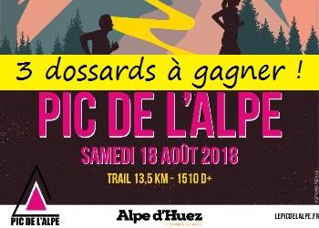 Photo of 3 dossards Pic de l'Alpe d'Huez 2018 (Isère)