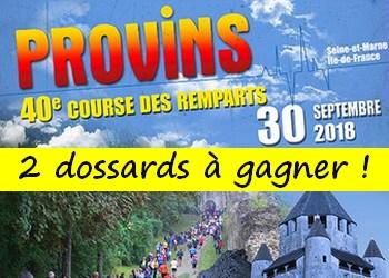 2 dossards Course des remparts de Provins 2018 (Seine et Marne)