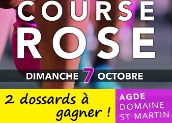 2 dossards Course Rose d'Agde 2018 (Hérault)