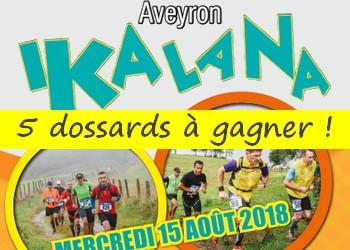 5 dossards Ikalana – Trail du Lévézou 2018 (Aveyron)