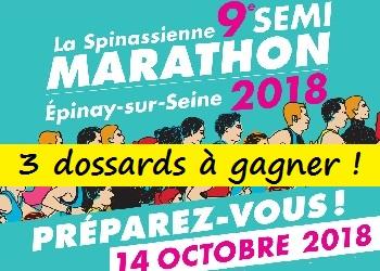 Photo of 3 dossards La Spinassienne 2018 (Seine Saint-Denis)