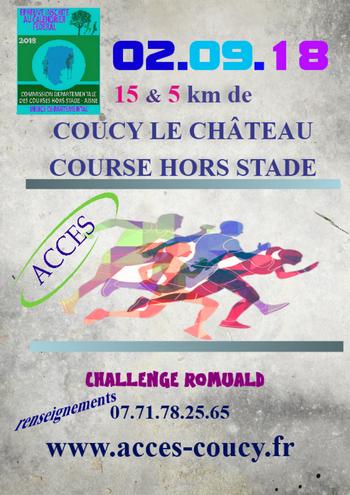 15 dossards 15 km de Coucy le château 2018 (Aisne)