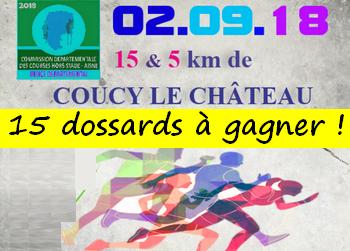 Photo of 15 dossards 15 km de Coucy le château 2018 (Aisne)