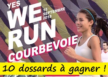 Photo of 10 dossards Yes We Run Courbevoie 2018 (Hauts de Seine)