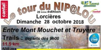 4 dossards Tour du Nipalou 2018 (Cantal)