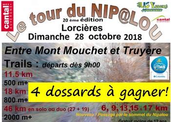 Photo of 4 dossards Tour du Nipalou 2018 (Cantal)