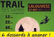 6 dossards Trail des Sapins 2018 (Ardèche)