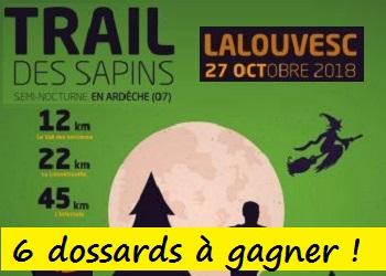 Photo of 6 dossards Trail des Sapins 2018 (Ardèche)