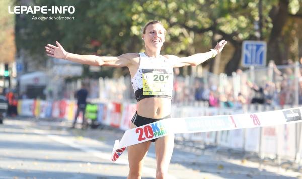 Ophélie Claude-Boxberger remporte les 20 km de Paris 2018