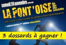 3 dossards Trail la Pont'Oise 2018 (Oise)