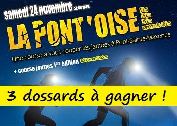 Photo of 3 dossards Trail la Pont'Oise 2018 (Oise)