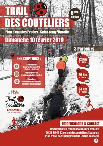3 dossards Trail des Couteliers 2019 (Puy de Dôme)