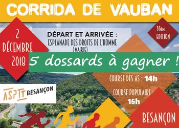 Photo de 5 dossards Corrida de Vauban 2018 (Besançon, Doubs)