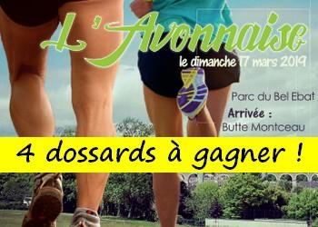 4 dossards L'Avonnaise 2019 (Seine et Marne)