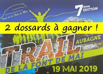 Photo de 2 dossards Trail de la Font de Mai 2019 (Bouches du Rhône)