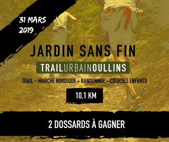 2 dossards Jardin Sans Fin 2019 (Rhône)
