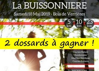 2 dossards La Buissonnière 2019 (Essonne)