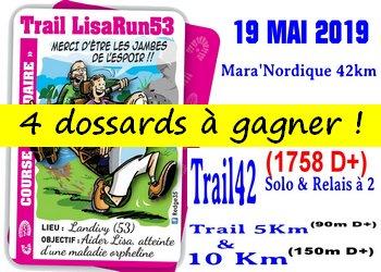 4 dossards LisaRun53 2019 (Mayenne)