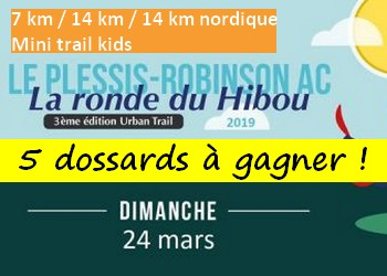 Photo de 5 dossards Ronde du Hibou 2019 (Hauts de Seine)
