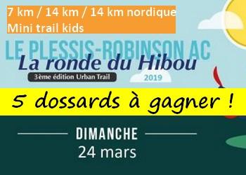 5 dossards Ronde du Hibou 2019 (Hauts de Seine)