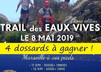 4 dossards Trail des eaux vives 2019 (Bouches du Rhône)