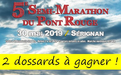 Photo of 2 dossards Semi-marathon du Pont Rouge 2019 (Hérault)