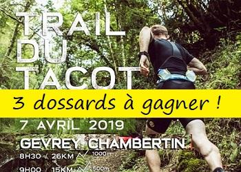 3 dossards Trail du Tacot 2019 (Cote d'Or)