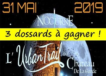 3 dossards Urban Trail du Château de La Garde 2019 (Var)