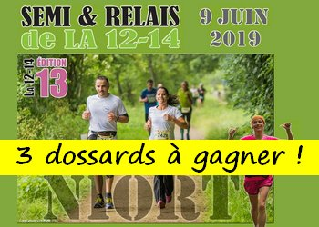 Photo of 3 dossards Semi & relais de la 12-14 2019 (Deux Sèvres)