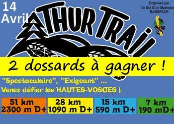 Photo de 2 dossards Thur Trail 2019 (Haut Rhin)