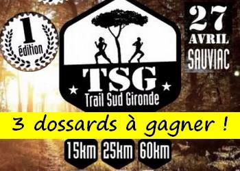 3 dossards TSG Trail du Sud Gironde 2019 (Gironde)
