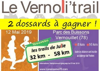 Photo de 2 dossards Vernolitrail 2019 (Yvelines)