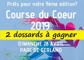 2 dossards Course du coeur 2019 (Rhône)