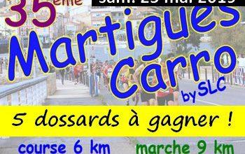 Photo de 5 dossards Martigues – Carro 2019 (Bouches du Rhône)