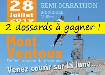 2 dossards Semi-marathon du Ventoux 2019 (Vaucluse)